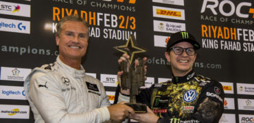 general-race-of-champions-2018-winner-david-coulthard-and-petter-solberg-celebrate-on-the